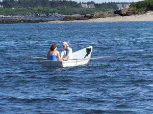 Rowing to Pinkham's