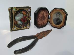 daguerrotype cases, pliers  (Photograph by Martha Andrews Donovan)