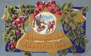 Holiday postcard Sent from Gatun Canal Zone, Dec. 13, 1911 Purchased at Concord Antique Gallery, Concord, New Hampshire,  December 2014