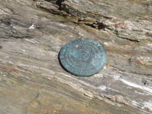 U.S. Coast & Geodetic Survey Marker Pott's Point, Casco Bay, Maine (Photograph by Martha Andrews Donovan)