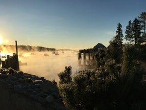 Sea Smoke Rising off Bass Harbor (Photograph by Martha Andrews Donovan)